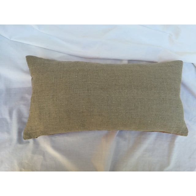 Chinoiserie Silk Crane Boudoir Pillow For Sale - Image 4 of 7
