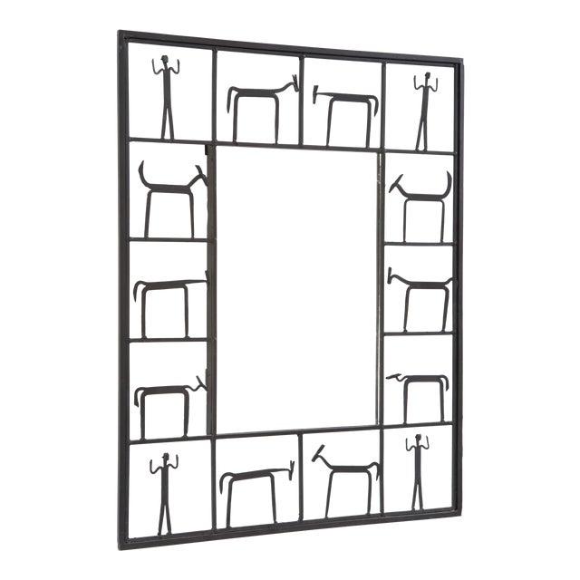 Mid-Century Modern Mirror by Frederick Weinberg For Sale