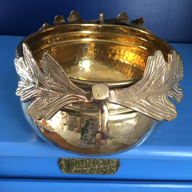 1990s 1990s Solid Brass Planter/Bowl For Sale - Image 5 of 7