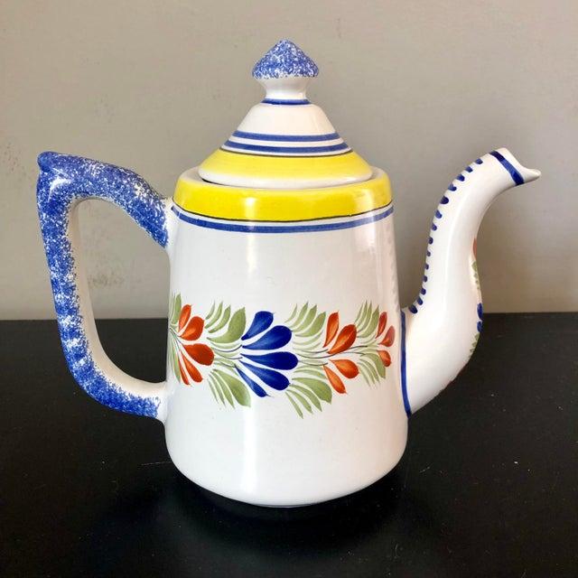 Henriot Quimper Vintage Henriot Quimper Coffee Pot For Sale - Image 4 of 7