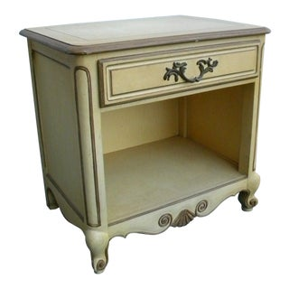 French Nightstand End Side Table by Baker For Sale
