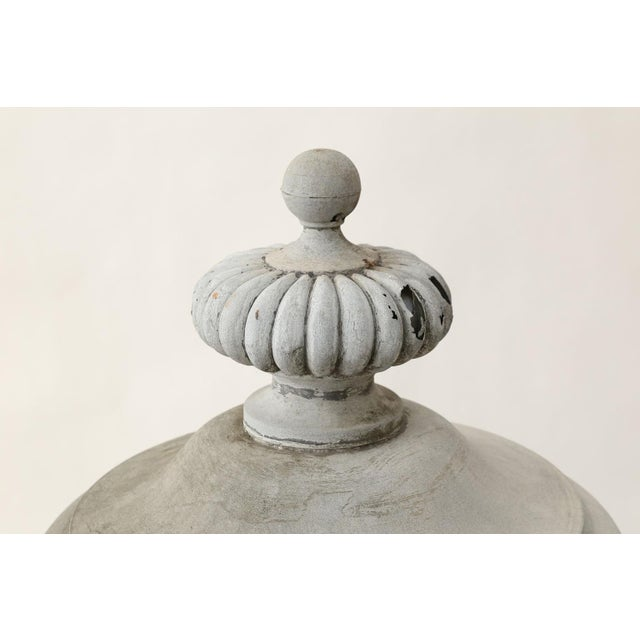 Monumental Urn-Shape Zinc Finial For Sale - Image 4 of 9