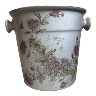 Floral Porcelain Planter From England 1910-30's For Sale