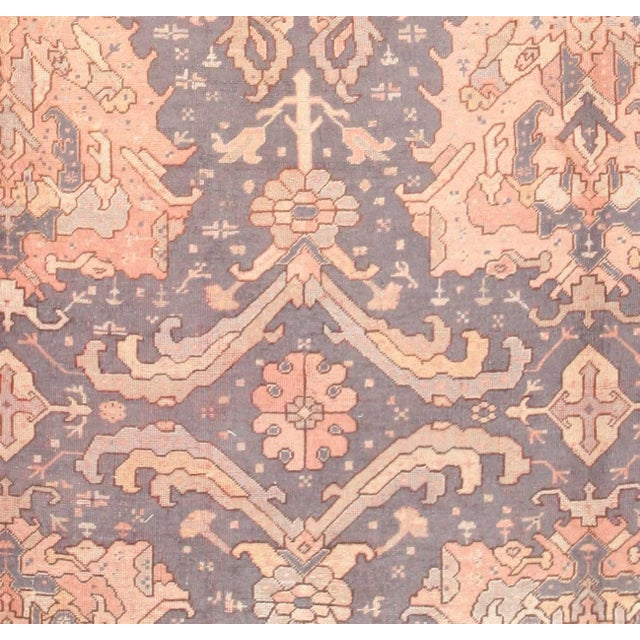 Large Scale Antique Turkish Oushak Rug - 12′3″ × 14′6″ For Sale - Image 4 of 7