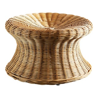 Small Juttu Wicker Stool by Eero Aarnio, Finland, 1960s For Sale