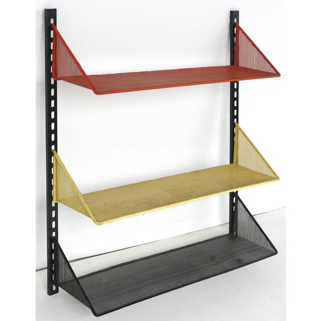 Red 1950s Mathieu Mategot Wall Shelf With Adjustable Shelves For Sale - Image 8 of 8
