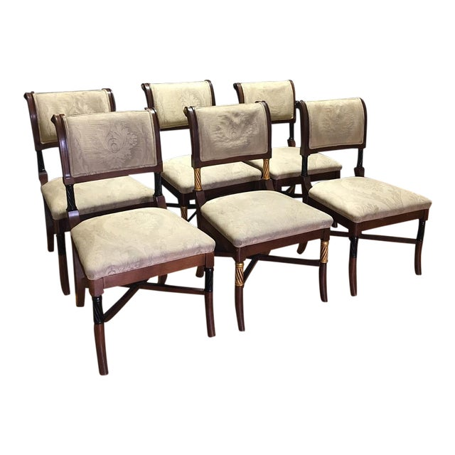 Wooden Ornate Dining Chairs - Set of 6 - Image 1 of 11
