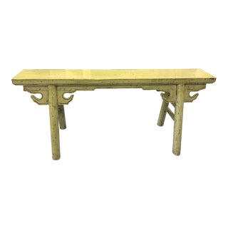Asian Hand Carved Bench/Altar Table For Sale