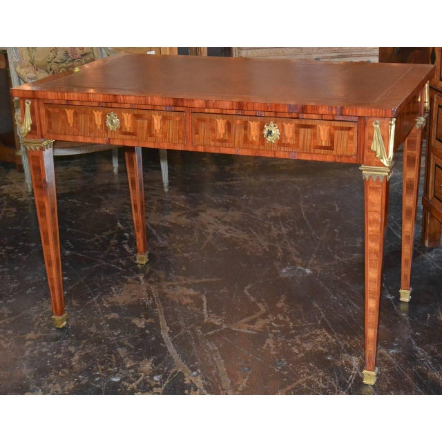 French Transitional Parquetry Inlaid Desk For Sale - Image 4 of 10
