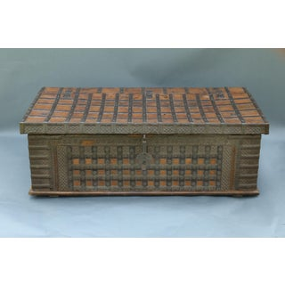British Colonial Iron Bound Trunk Coffee Table Chest Preview
