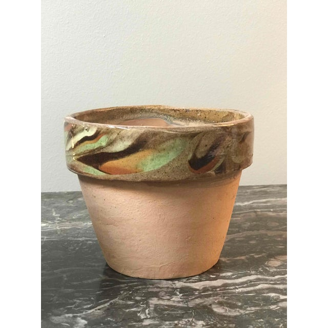 Decorated and Glazed Rim Pots From 1960s England For Sale - Image 4 of 6