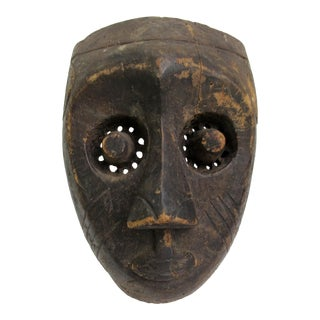 17th. Century Vintage African Republic of Congo Carved Tribal Ceremonial Mask For Sale