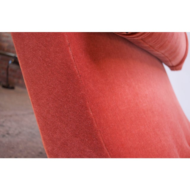 """Orange Adrian Pearsall for Craft Associates """"Wave"""" Chaise Lounge in Coral Mohair For Sale - Image 8 of 13"""