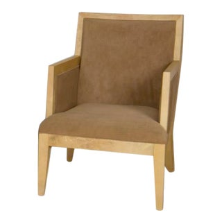 Jean-Michel Frank Style Parchment Covered Armchair For Sale