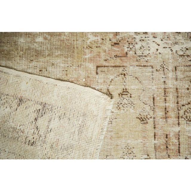 "Vintage Distressed Oushak Rug - 4' x 5'11"" - Image 7 of 10"