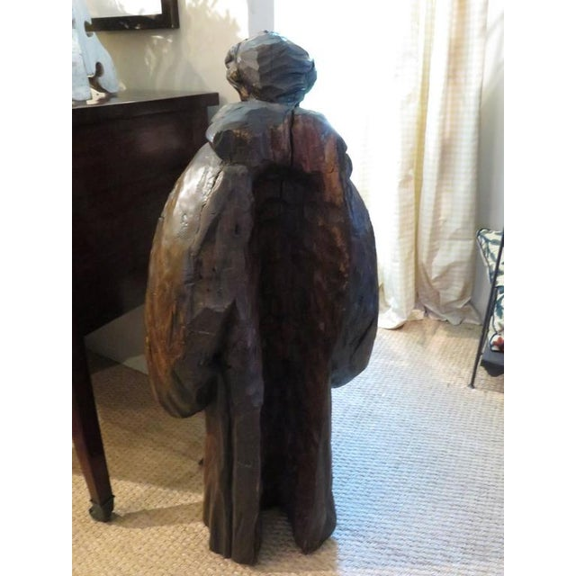 Late 19th Century French Carved Walnut Ecclesiastical Figure For Sale - Image 5 of 6