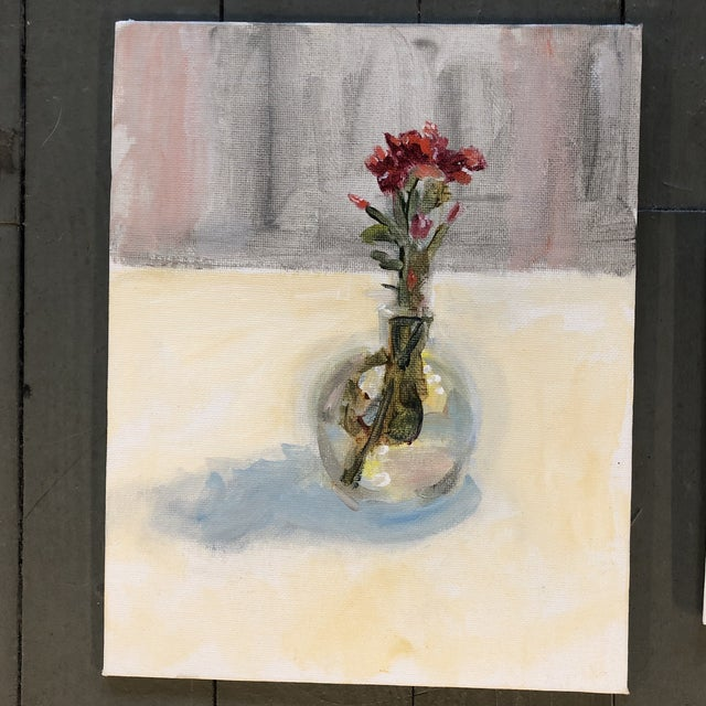 Contemporary Gallery Wall Collection 3 Original Contemporary Still Life Paintings For Sale - Image 3 of 6
