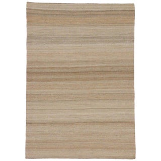 Contemporary Indian Dhurrie Flat-Weave Kilim Rug - 4′8″ × 6′7″ For Sale