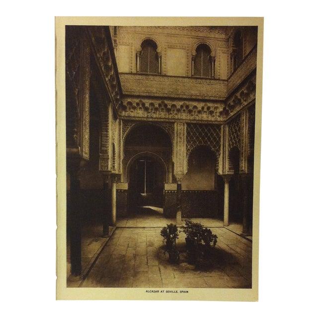 "Circa 1915 ""Alcazar of Seville, Spain"" the Mentor Association Print For Sale"