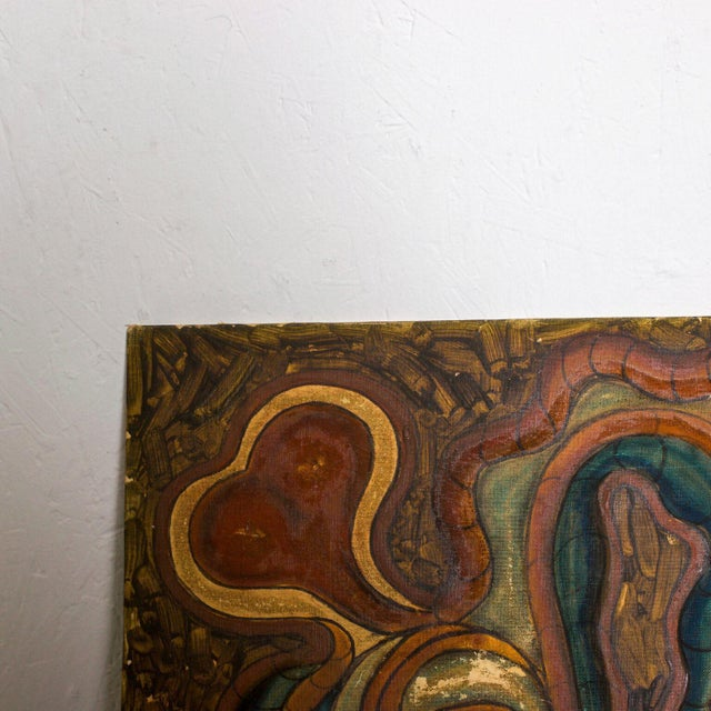 For you: Organic Art Work Modern Painting- Abstract Oil on Board Original Unrestored Condition. Please see images and...
