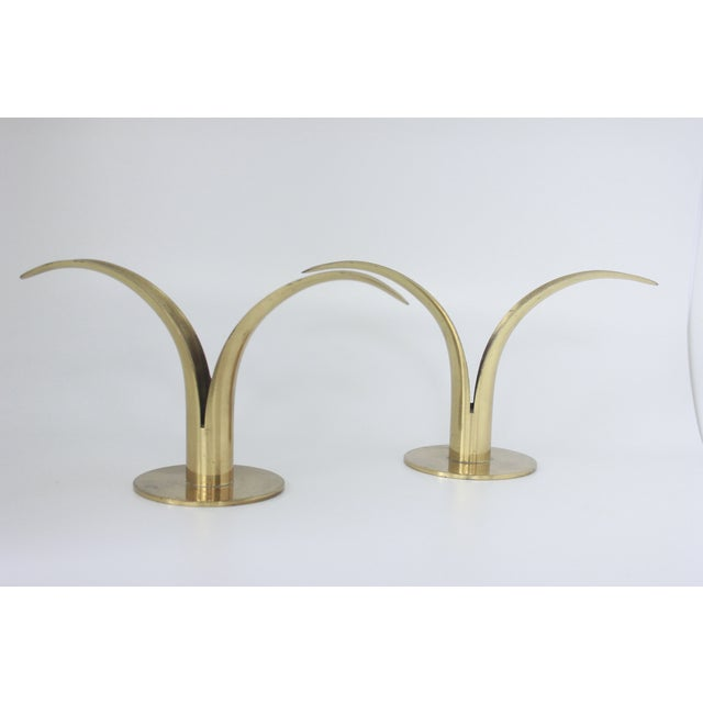 Ystad Metall Swedish Brass Candlesticks- A Pair - Image 4 of 8