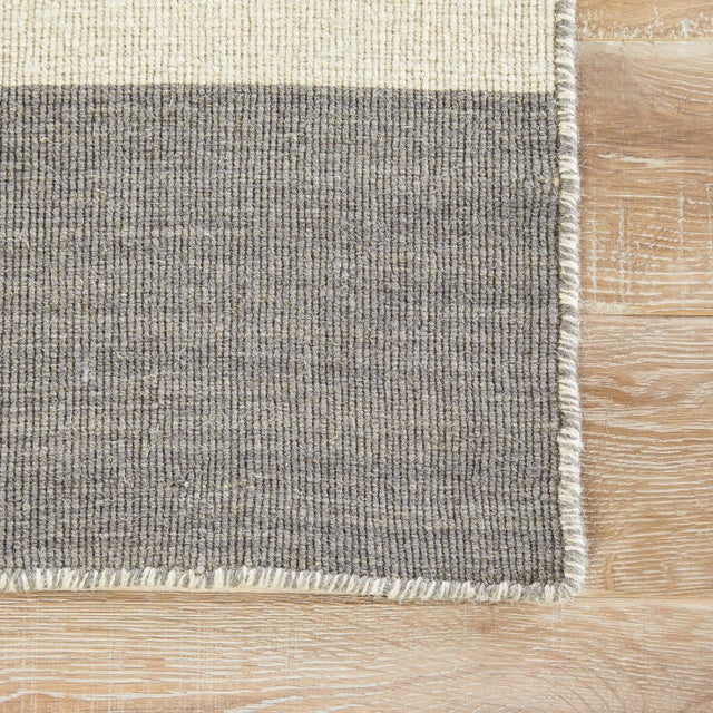Contemporary Jaipur Living Tierra Handmade Striped Gray/ White Area Rug - 8′ × 10′ For Sale - Image 3 of 6