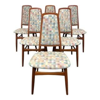 Faarup Mobelfabrik Solid Teak Danish Mid Century Modern Dining Chairs - Set of 6 For Sale
