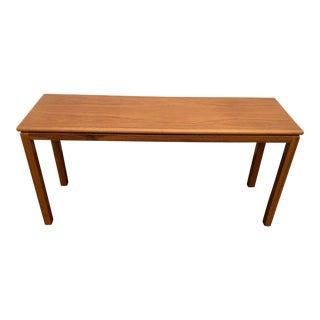 1960s Danish Modern Teak Wood Sofa Table For Sale