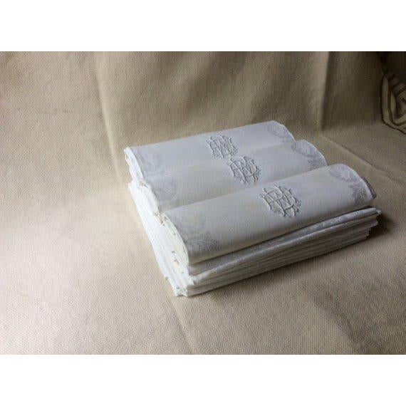 Late 19th Century 19th Century French Linen Napkins - Set of 12 For Sale - Image 5 of 11