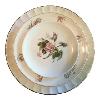 Vintage Mismatched China Dinner, Salad & Bread Plates Dinnerware - Service for 6