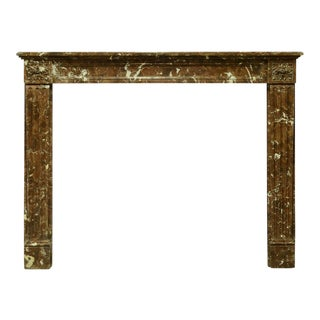 Lovely Small Red Marble Louis XVI Fireplace Mantel For Sale