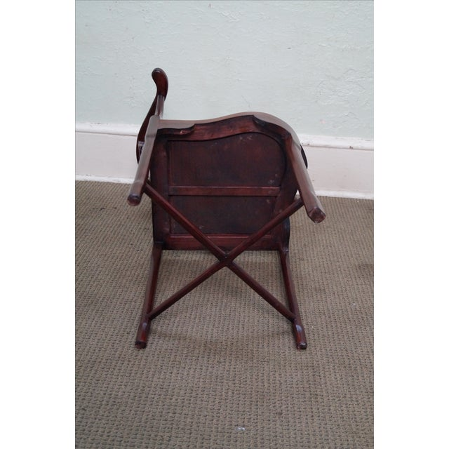 Chinese Rosewood Carved Corner Arm Chair - Image 8 of 10