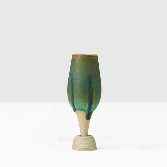 Miniature vase by Wilhelm Kage, made at Gustavsberg, circa 1960s. A superb example of Kage's Terra Spirea Farsta series,...