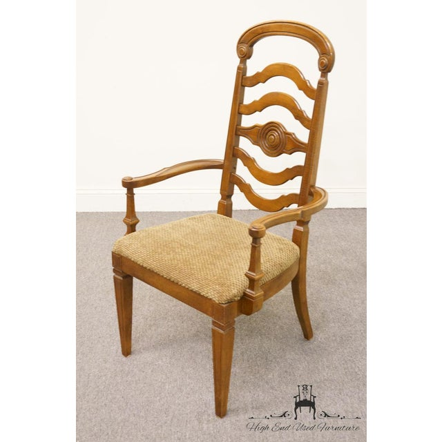 Thomasville Thomasville Furniture Italian Provincial Tuscan Dining Arm Chair For Sale - Image 4 of 10