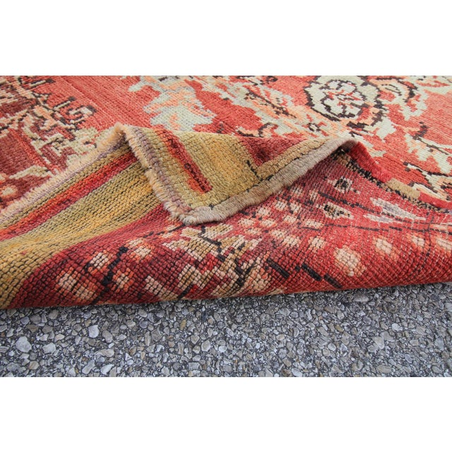 Vintage Tribal Antique Turkish Oushak Hand Knotted Rug - 5'1 X 7'5 For Sale In Houston - Image 6 of 6