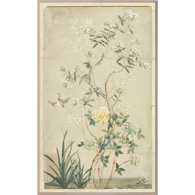 2010s Chinoiserie Framed Textile Art For Sale - Image 5 of 5