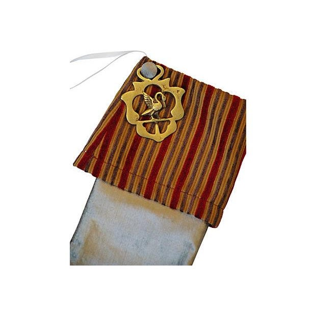 Custom Made Brass Medallion Christmas Stocking - Image 2 of 3