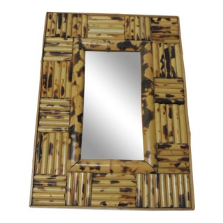 Vintage Small Bamboo Wall Mirror