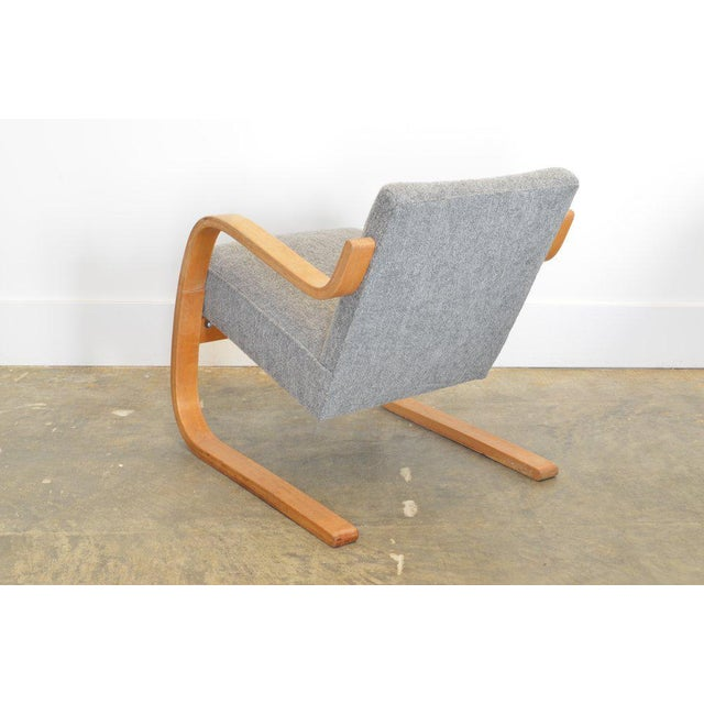 1930s Alvar Aalto 34/402 Model Cantilever Chair in Pierre Frey For Sale - Image 5 of 7
