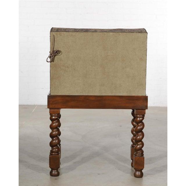 Renaissance Antique Renaissance Needlework Oak and Walnut Trunk Form Secretary Desk on Stand For Sale - Image 3 of 4