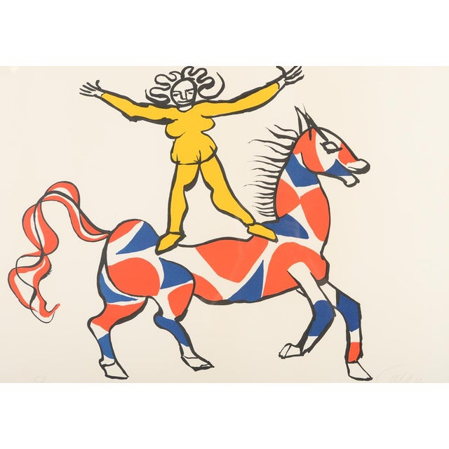 "Mid-Century Modern ""Circus Bareback Rider"" Framed Alexander Calder Lithograph For Sale - Image 3 of 10"