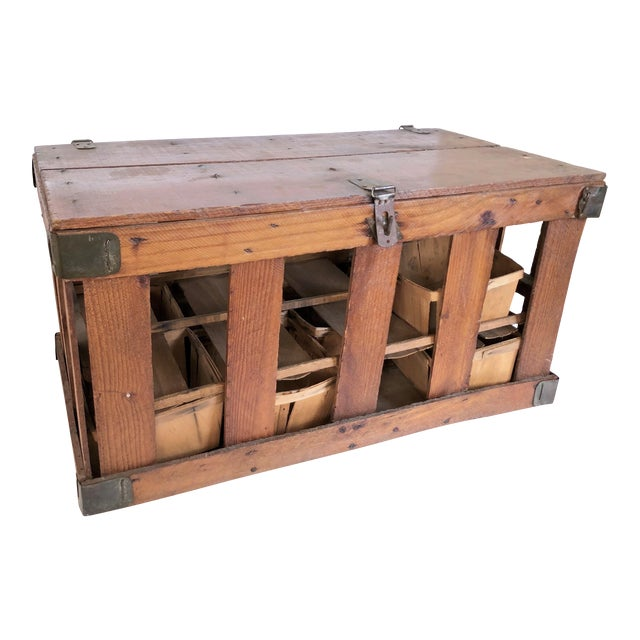 Antique French Berry Crate For Sale