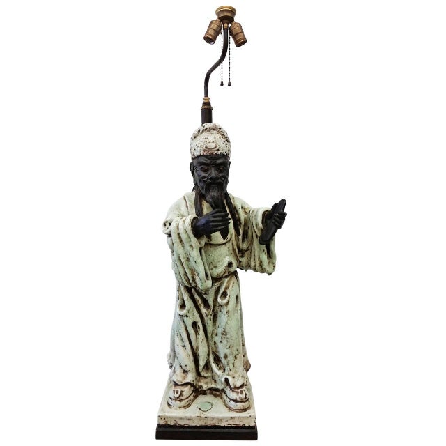 James Mont Style Figural Table Lamp - Image 1 of 8