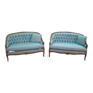 1970s Vintage French Style Love Seats- A Pair For Sale