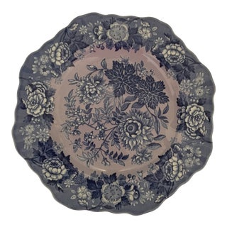 "Spode Blue Room Garden Collection Fancy Salad Plate 9"" Jasmine Purple For Sale"