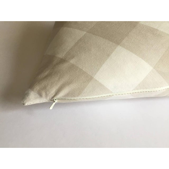 Diagonal Beige & Cream Plaid Pillow Cover - Image 4 of 6