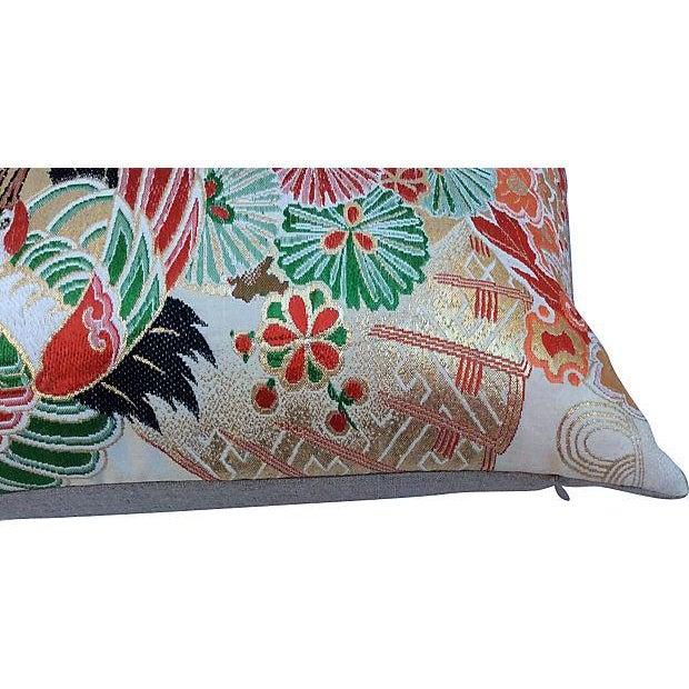 Japanese Obi Metallic Pillow - Image 4 of 5