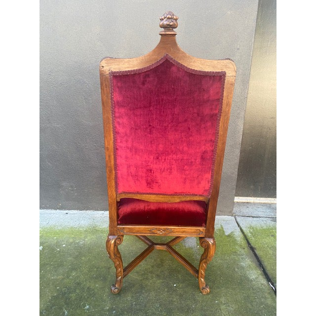 19th C. English Gothic Single Armchair For Sale - Image 9 of 13