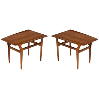 Pair of Danish Modern Teak Side Tables in the Style of Poul Jensen For Sale