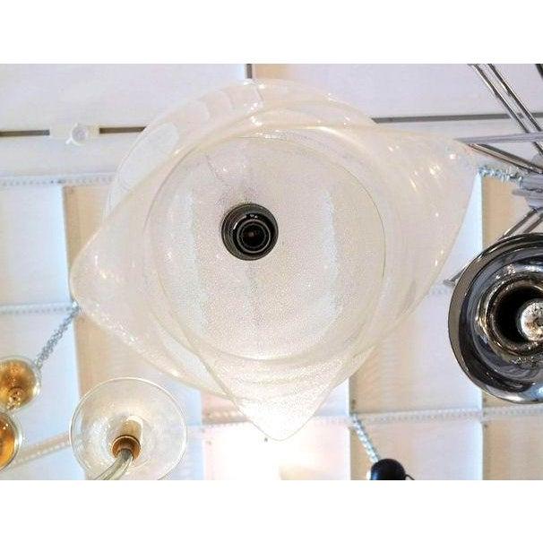 Mazzega Murano Mid Century Modern Carlo Nason Murano Glass Chandelier, by Mazzega, Italy 1960s For Sale - Image 4 of 6